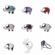 Nhẫn bạc đá quý bán tự nhiên mạ bạc