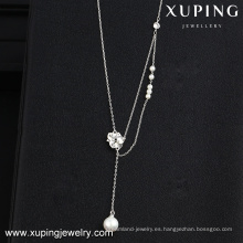 collar-00114-encantadora joyería al por mayor flor mar collar de concha