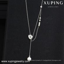 collier-00114-belle collier en gros de fleurs de bijoux de mer