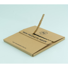 3-lagige Wellpappe-Reißverschluss Offenes Design Kraftpapier Box