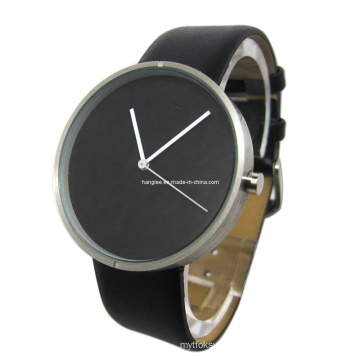 Classic Black Dial Stainless Steel Watch (HAL-1275)