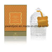 Velas de soja perfumadas de arte en frasco de vidrio esmerilado