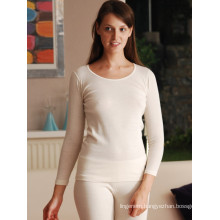 THERMAL ALL WOOL LONG SLEEVE VEST, UNDERWEAR
