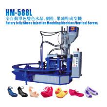 Máquina rotativa de moldeo por inyección para zapatos de gelatina
