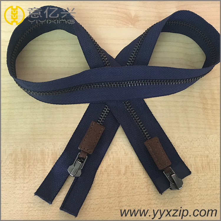 custom 2 way metal zippers