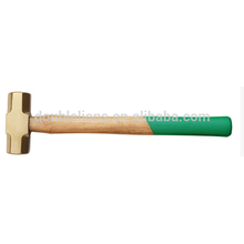 brass hammer with wooden handle , anti spark safety tools