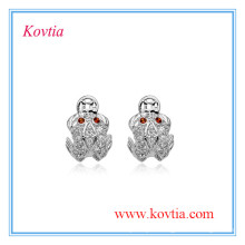 Wholesale trendy 925 sterling silver jewelry wholesale animal stud earrings imitation jewelry made in hongkong