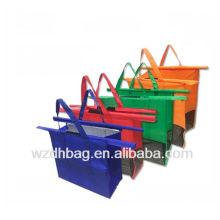 Sac d'épicerie non tissé réutilisable en gros fait sur commande de chariot à achats