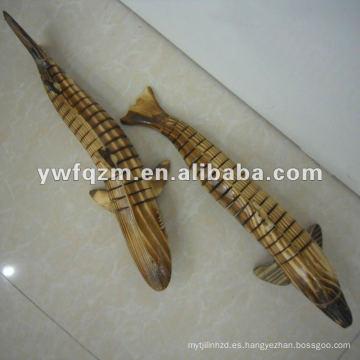 talla en madera de animales para la decoración de la casa visual delphinids