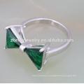 2018 мода латунь кубический циркон треугольник камень кольцо