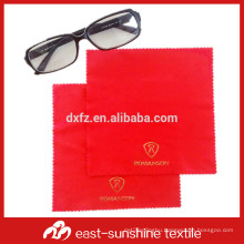 custom gold bronzing logo microfiber cloths for cleaning glasses, lens