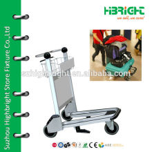 airport luggage cart with hand brake