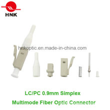 LC PC 0.9mm Simplex Multimode Fiber Optic Connector