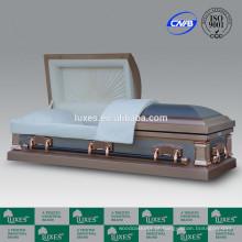 Caixão fornecedores LUXES estilo americano caixões de caixão de Metal de 18ga