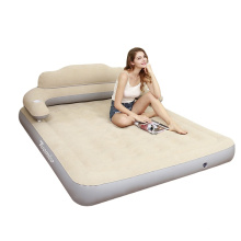 Velvet Mattress Lying Comfort Velvet Texture Inflatable Bed Guest Bed Travel Car Bed with Backrest