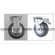 Roulette pivotante à roulement fixe / pivotante. Mute Design. Falme PU Roulette Roulette Meduim Duty Caster