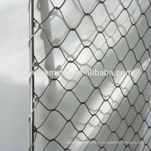 Handmade woven zoo mesh steel cable wire rope netting price manufacturer