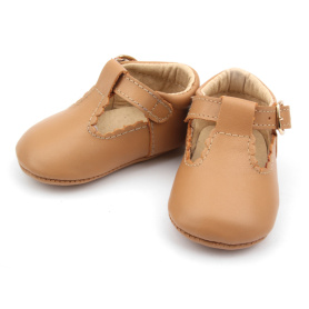 Cute T-Bar Genuine Leather Baby Dress Shoes