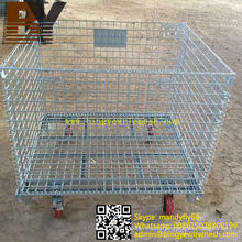 Foldable Stackable Wire Mesh Container