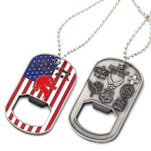 Custom Necklace Blank New Engraved ID Metal Sublimation Aluminum Dog Tag