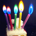 Cake Decorative Paraffin Color Flame Lilin Price