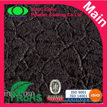 Black thick crocodile skin powder coating
