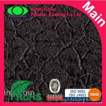 Черное толстое порошковое покрытие из крокодиловой кожи