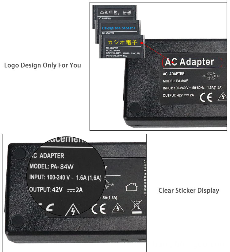 42V 2A Li-ion Battery Charger Adapter