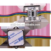 Caja de metal cuadrado de 35 mm a prueba de agua 5050 smd RGB módulo de pixel DMX ws2801 llevado