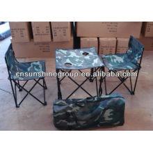 Mobília ao ar livre Camping cadeiras mesas jogos jogos, Camo caminhadas.