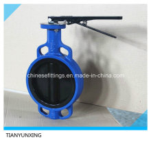 Cast Iron Body PTFE Lined Disc Wafer Butterfly Valves