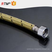 J7 aluminium fil tressé tuyau flexible pour chauffe-eau ss tressé tuyau flexible