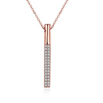 El oro de Rose de la joyería de la manera plateó la venta caliente del collar pendiente