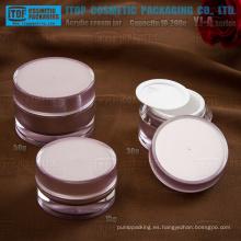 Serie YJ 10g - 200g cilindro clásico forma personalizados acrílico tarro cosmético