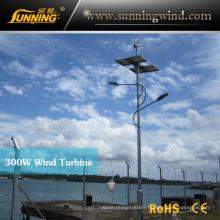 300W Wind Soalr Street Light System Power Supply Small Wind Turbine