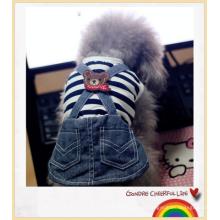 Haustier Hund Katzen Gestreifte Hose Overall Kleidung