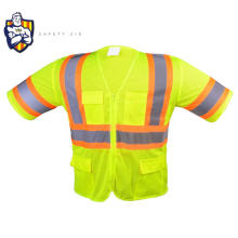 EN20471 HIGH VISIBILITY yellow pink orange blue SECURITY WORK reflective VEST airport safety vests