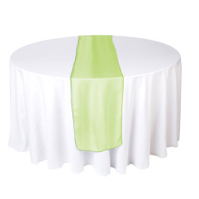 Apfelgrüner Organza Tischläufer