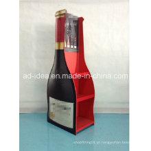 Stand de exposição de vinho do tipo piso / exposição para publicidade de vinho tinto