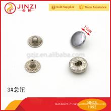 10mm de bouton-poussoir métallique à quatre pièces de Jinzi