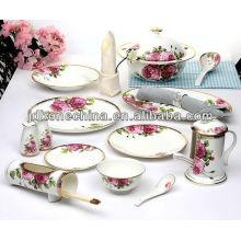 Exportación de la caja de regalo Un grado inglés británico chino portugués dinastía real imperial utensilios finos de la porcelana de China al por mayor