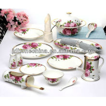 gift box export A grade British Spanish Chinese Portuguese royal imperial dynasty fine bone china kitchenware wholesale