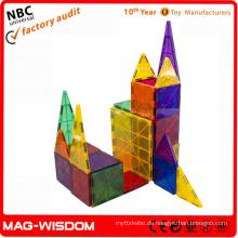 2015 3D-Plastikmagnetisches Gebäude Pädagogisches Spielzeug