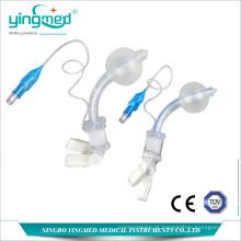 Tubo de traqueostomia descartável de PVC com manguito