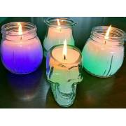 Candela di vetro magica con cambio di colore