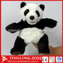 Cute panda juguetes de peluche marioneta de mano animal para el bebé
