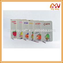 Diário de cobertura de frutas kawaii e impressão de caderno personalizado, comprar no mercado da China