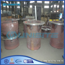 Steel wear resistant loading pipes