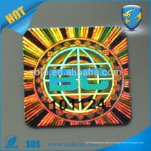 3d láser holográfico auto adhesivo etiqueta destructible