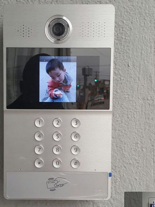 Door Security System with Camera Intercom